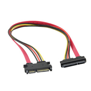 50 cm 22P 7+15Pin M/F Serial ATA SATA Data Power Combo Extension Cable