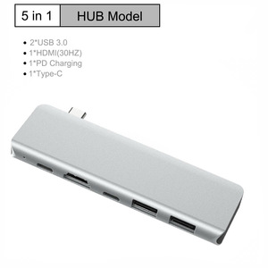 6-in-1 Type-c USB C Hub Adapter+ HDMI + Card Reader