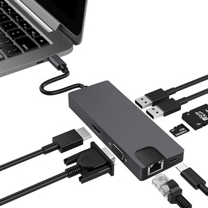 8-in-1 USB C Hub to HDMI+VAG +RJ45
