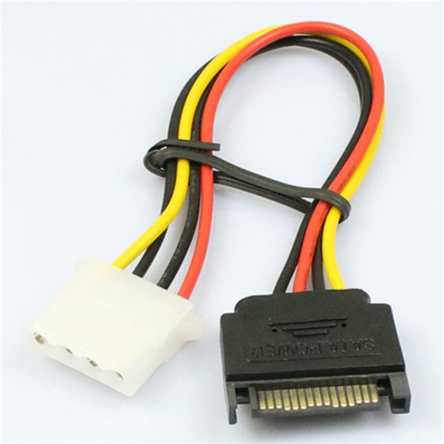 15 Pin SATA Male to 4 Pin Molex Female IDE HDD Power Hard Drive Cable<br/><br/>